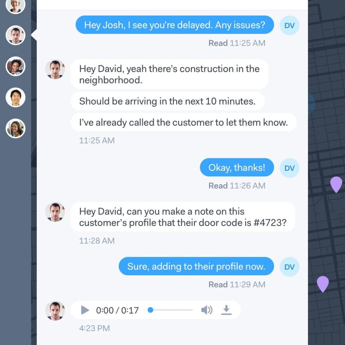 Onfleet Team Communication